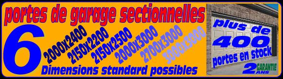 Porte de garage sectionnelle motorise dim h2150xl2500 r for Porte de garage sectionnelle haut de gamme